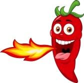 Peperoncino piccante messico red. Chili clipart spicy food