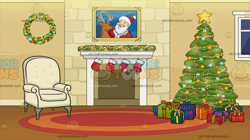 Chimney clipart background. A fireplace beside christmas