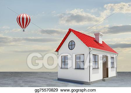White house with red. Chimney clipart background