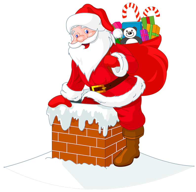 Transparent santawith cipart gallery. Chimney clipart background