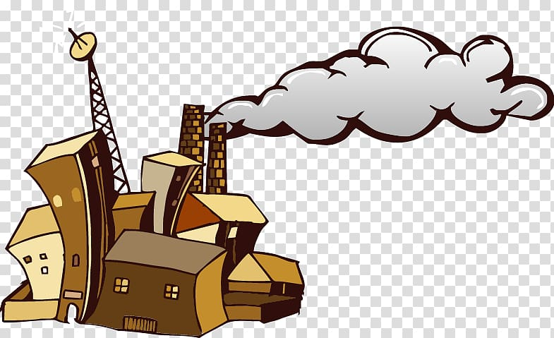 Factory smoke abstract chimneys. Chimney clipart background