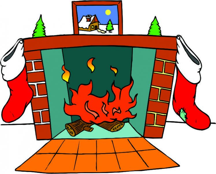 Christmas fireplace pictures great. Chimney clipart cartoon