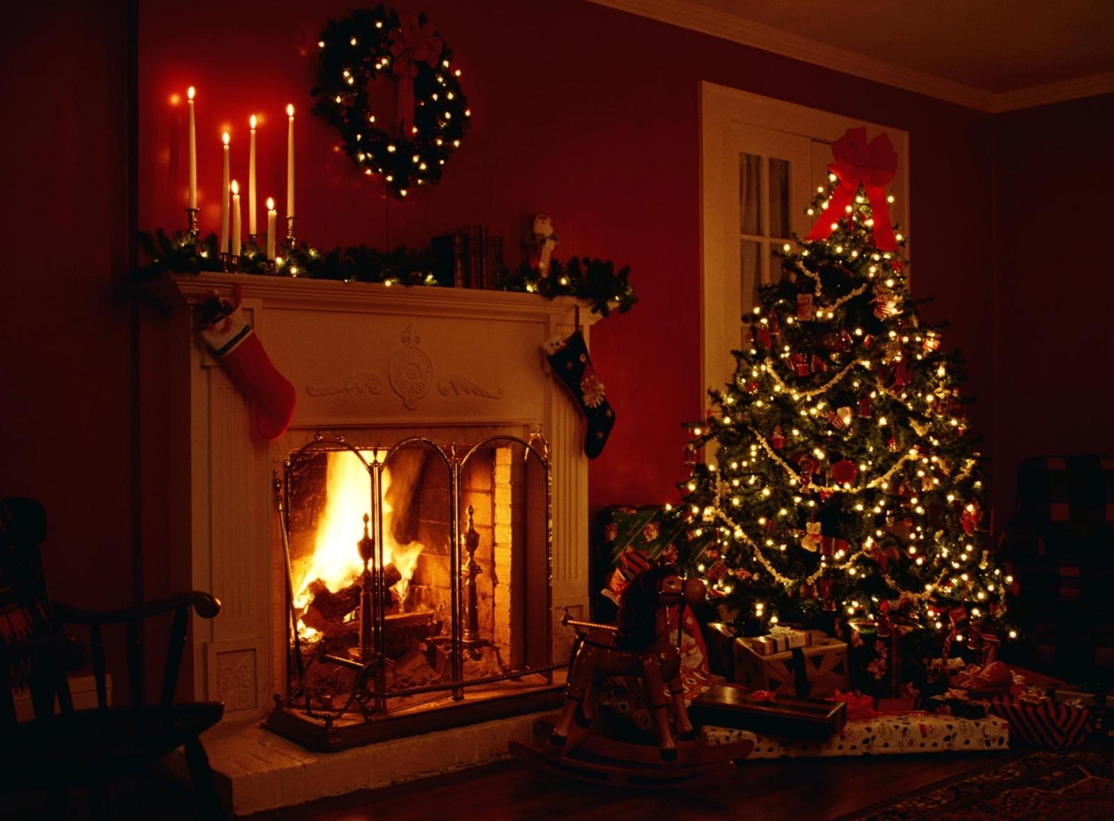Wallpaper wallpapers browse with. Chimney clipart christmas tree fireplace