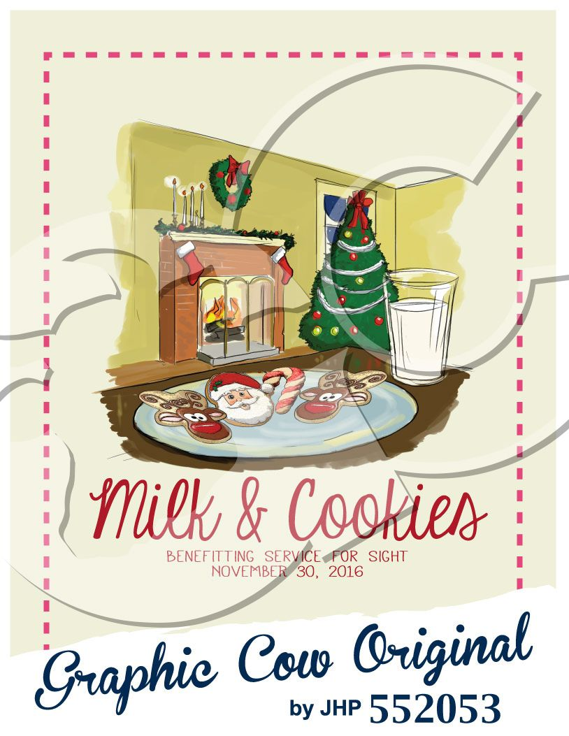 Milk and cookies food. Chimney clipart christmas tree fireplace