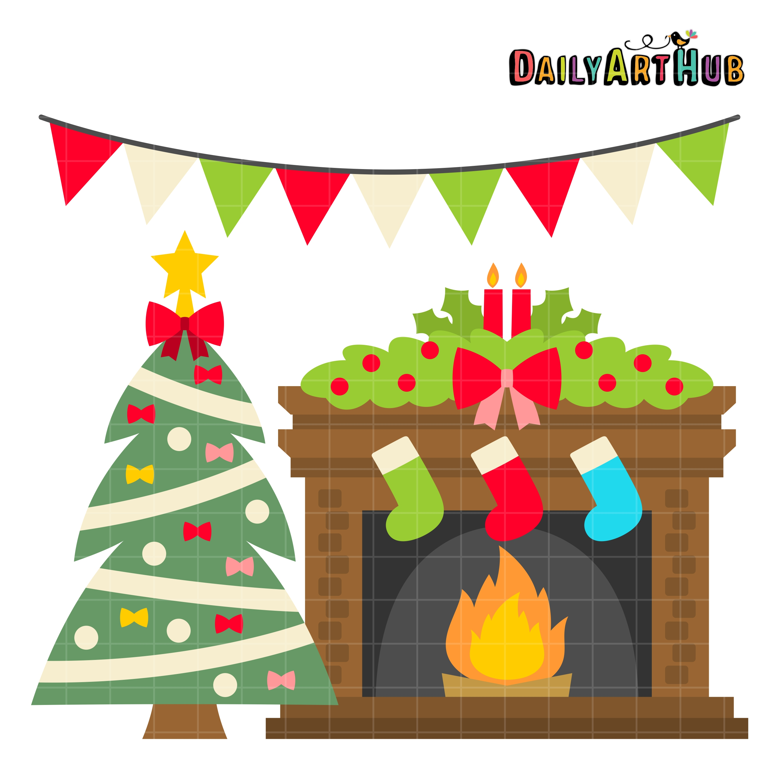 Fireplace clipart.  collection of christmas