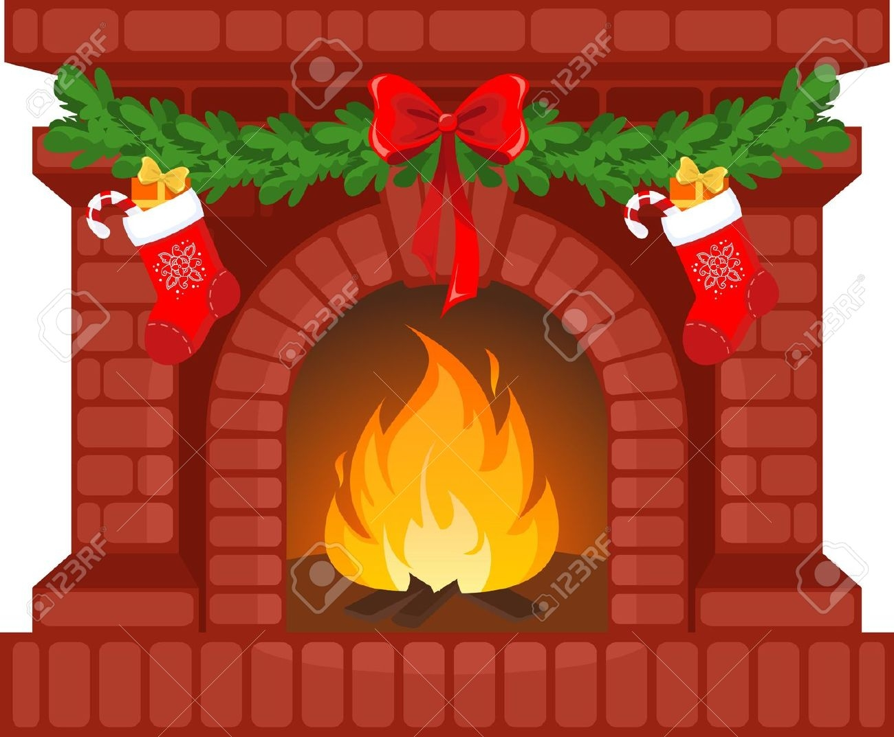 collection of christmas. Chimney clipart fireplace