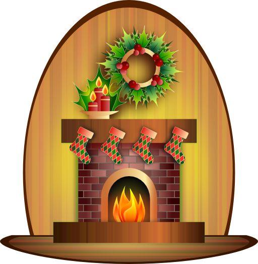 Chimney fireplace scene