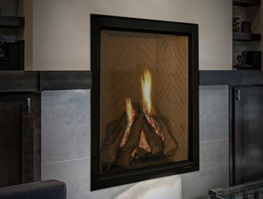 Everest vertical gas fireplace. Chimney clipart hearth