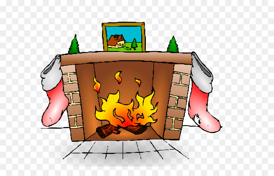 Chimney clipart hearth. Santa claus cartoon fire