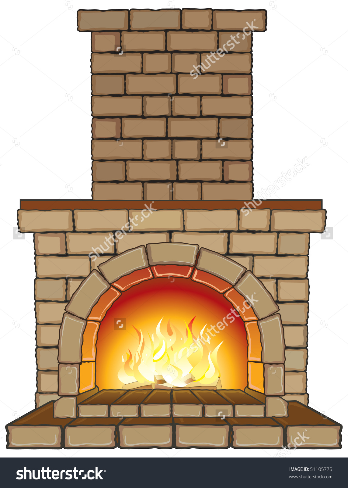 collection of chimney. Fireplace clipart indoor