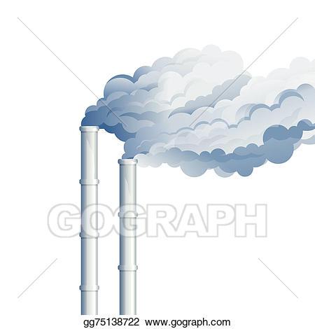 Stock illustration smoke illustrations. Chimney clipart industrial chimney