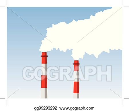 Eps vector stock illustration. Chimney clipart industrial chimney