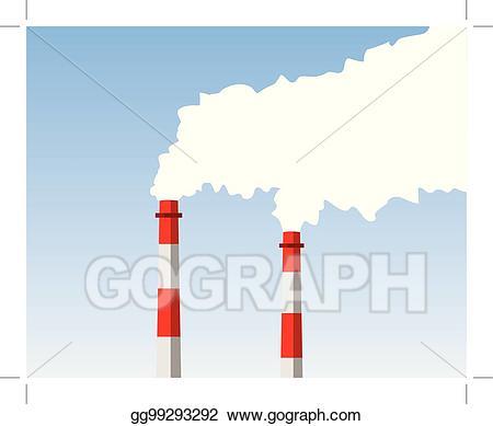 Chimney clipart industrial chimney. Eps vector stock illustration