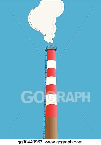 Chimney clipart industrial chimney. Vector illustration stock clip