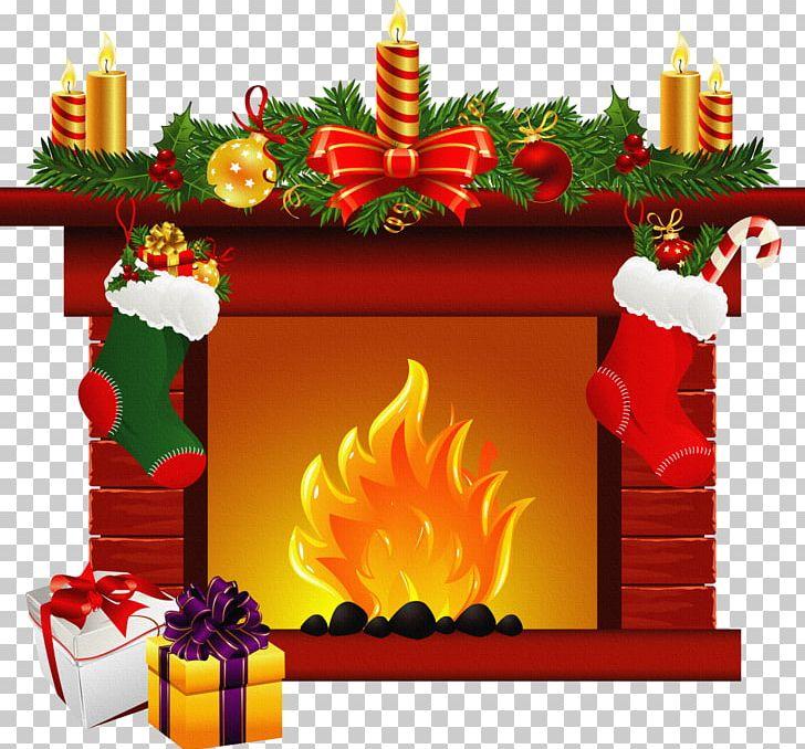 Santa claus christmas mantel. Fireplace clipart fireplace mantle