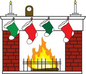 Fireplace clipart stocking clipart. Clip art mantle download