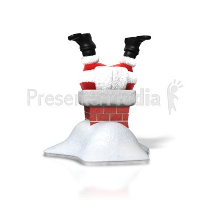 Chimney clipart santa boot. Upside down holiday seasonal