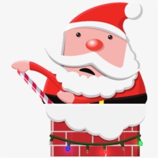 Chimney clipart santa foot. Stuck in claus free