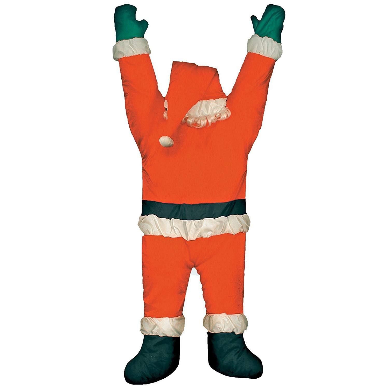 Amazon com hanging from. Chimney clipart santa foot