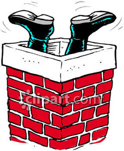 Chimney clipart santa foot. Claus feet sticking out