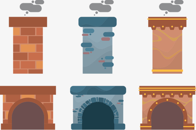 Chimneys and fireplaces fireplace. Chimney clipart smoking chimney