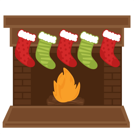 With stockings best fireplace. Chimney clipart stocking clipart