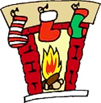 Chimney clipart stocking clipart. Free christmas public domain