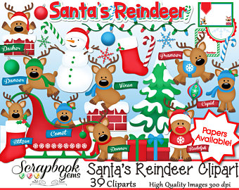 Etsy santas reindeer png. Chimney clipart stocking clipart
