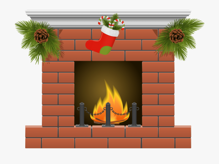 Picture freeuse library christmas. Chimney clipart stocking clipart