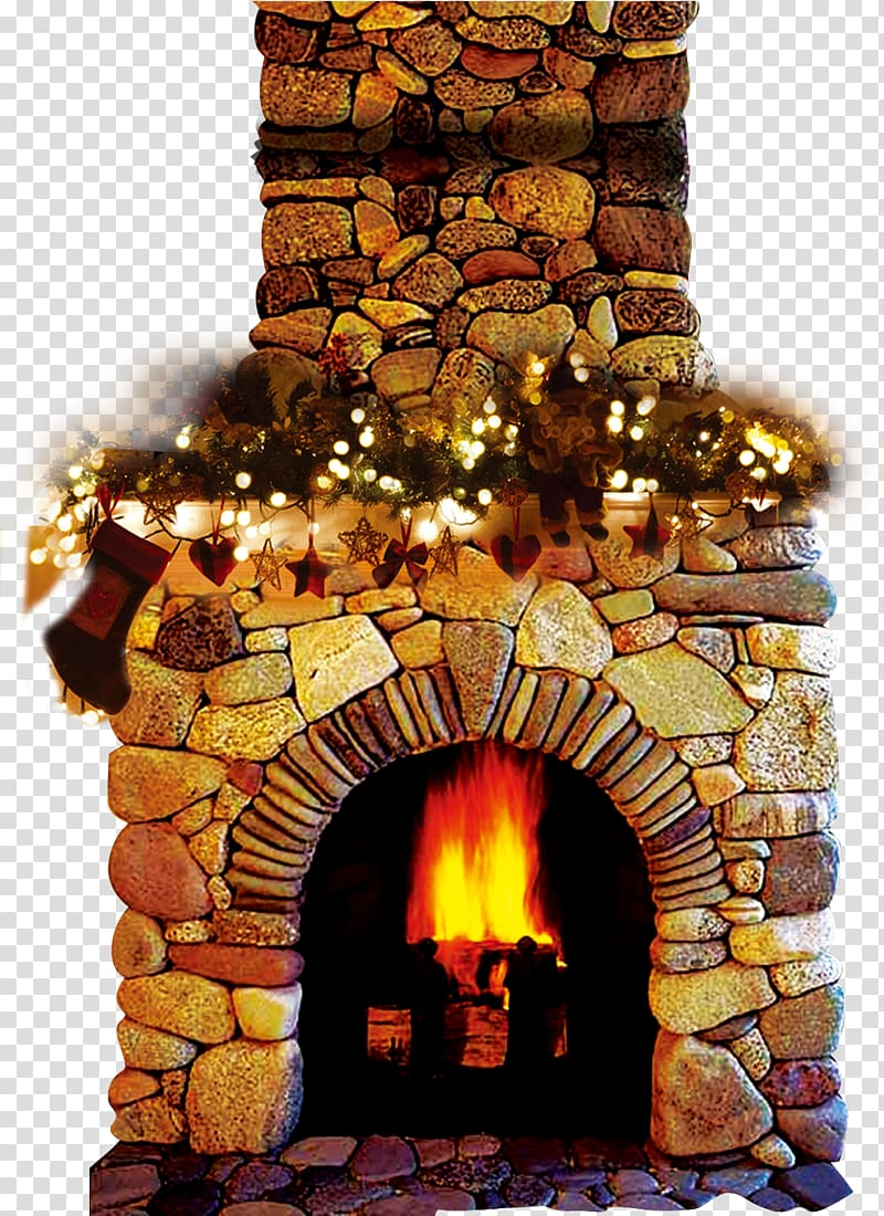 Fireplace clipart stone fireplace. Wood burning stove chimney