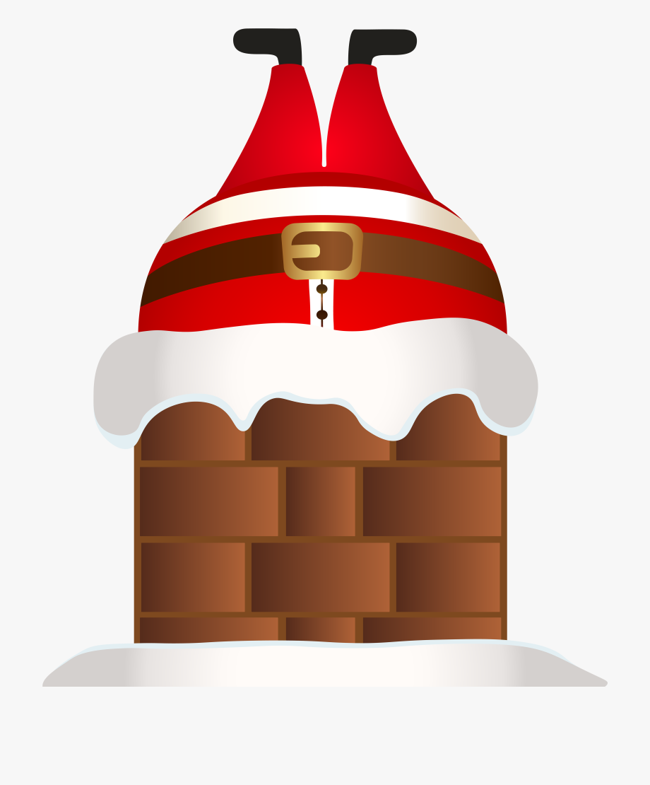 Funny santa in png. Chimney clipart transparent