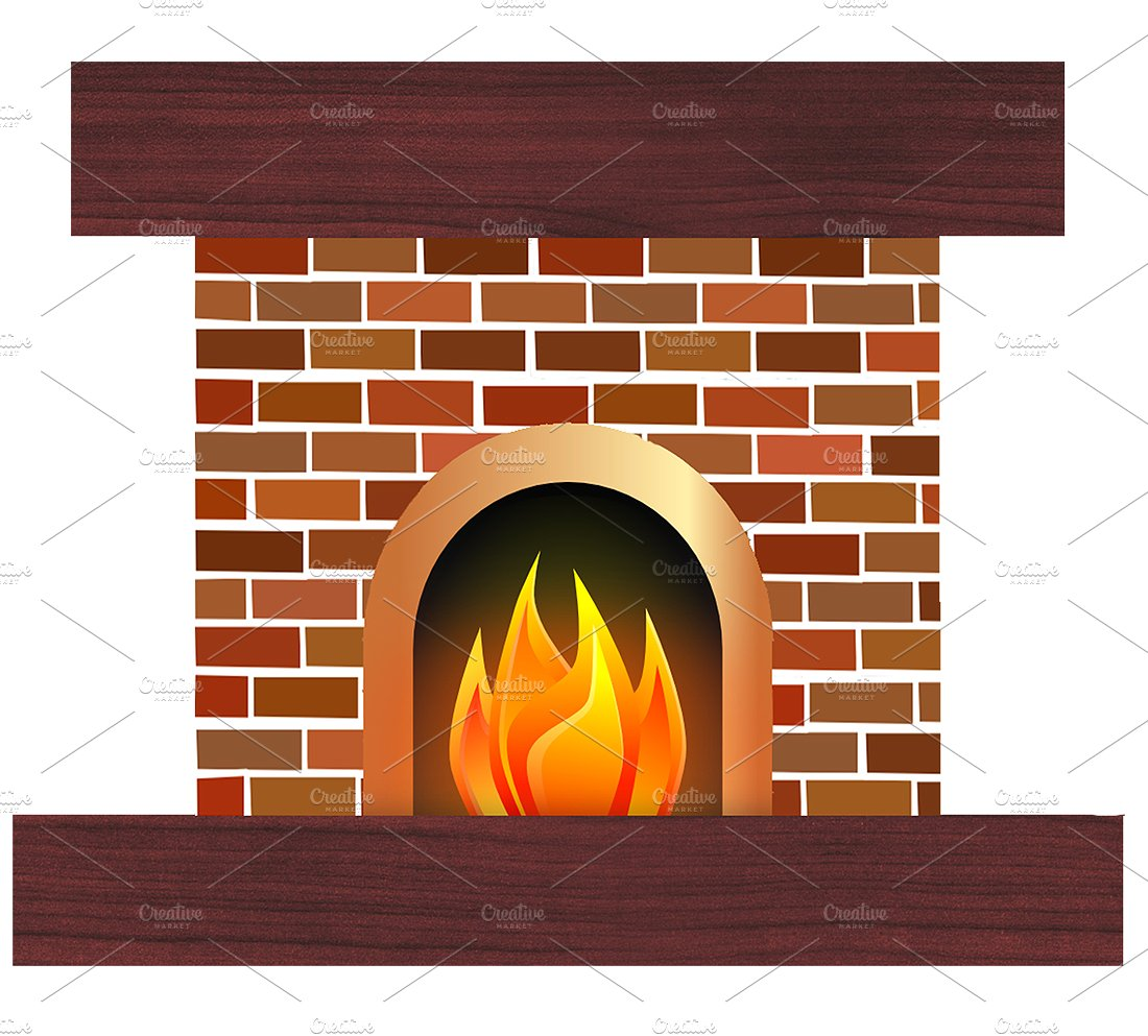 collection of indoor. Fireplace clipart