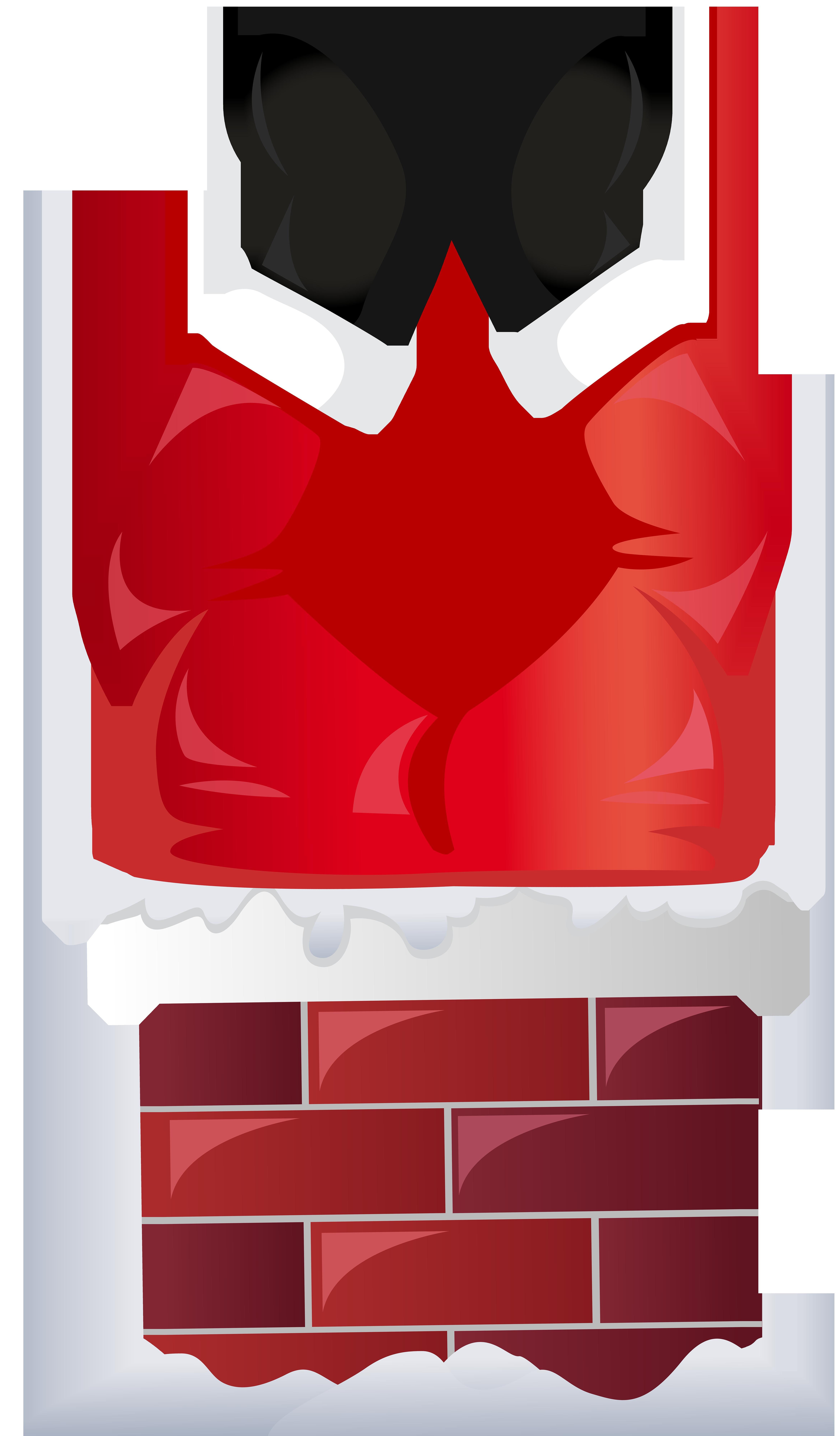 Funny in chimney transparent. Clipart santa retro