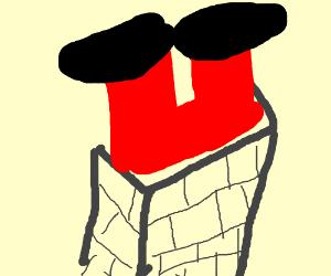 Dr eggman is sad. Chimney clipart upside down