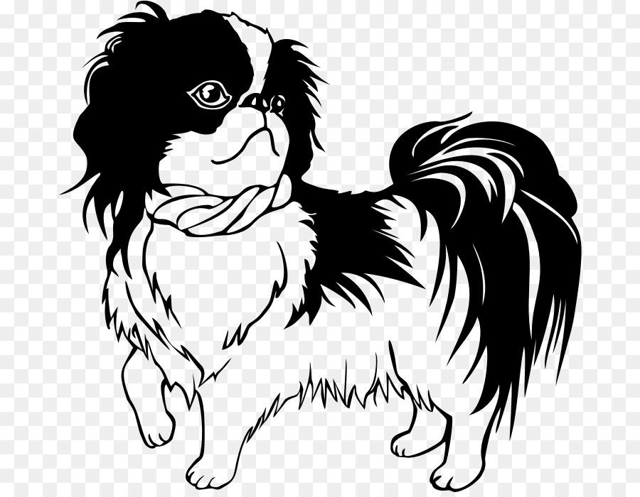 Chin clipart black and white. Shih tzu dachshund japanese
