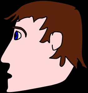 Head man clip art. Chin clipart boy side view