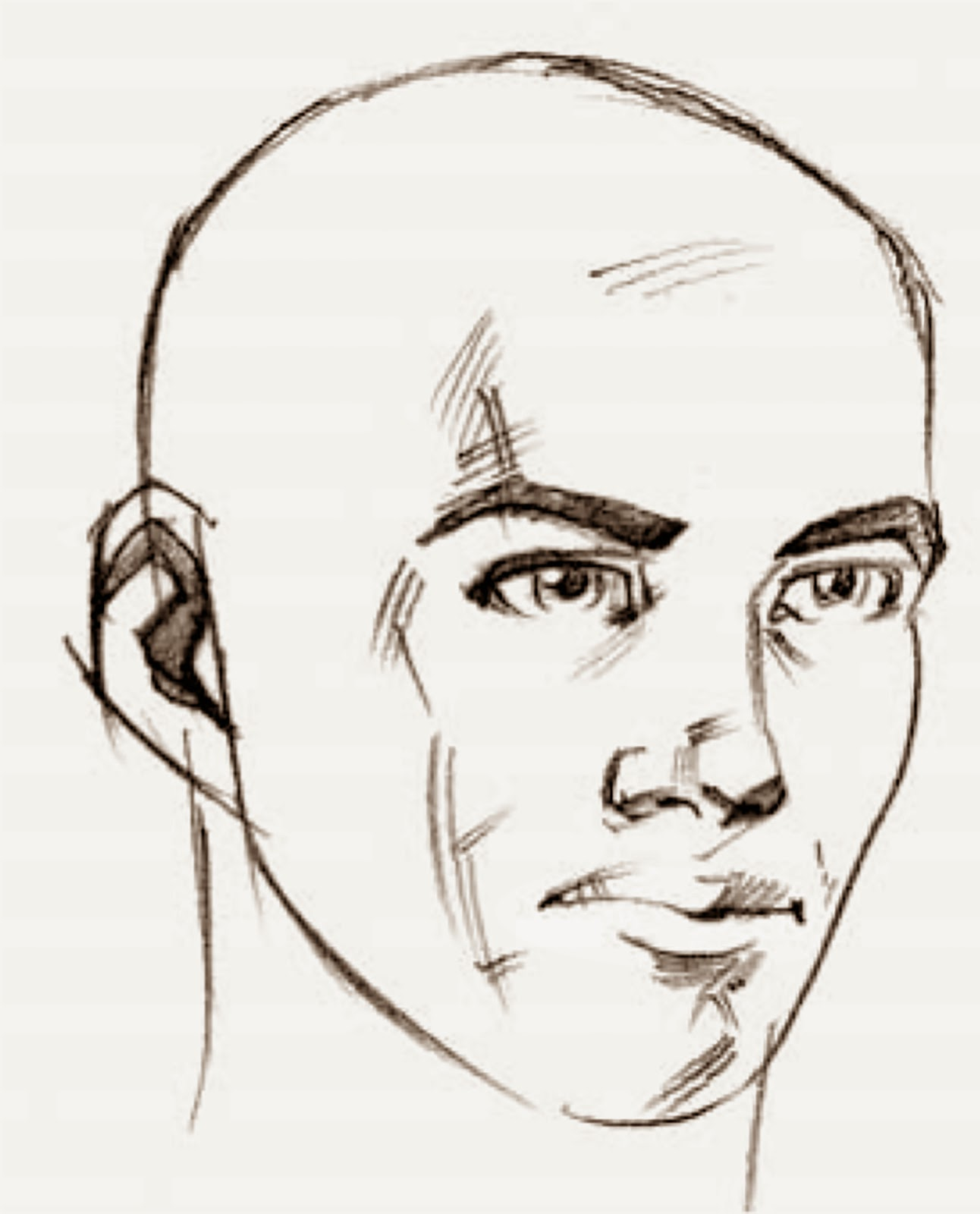 Male face profile drawing. Chin clipart boy side view