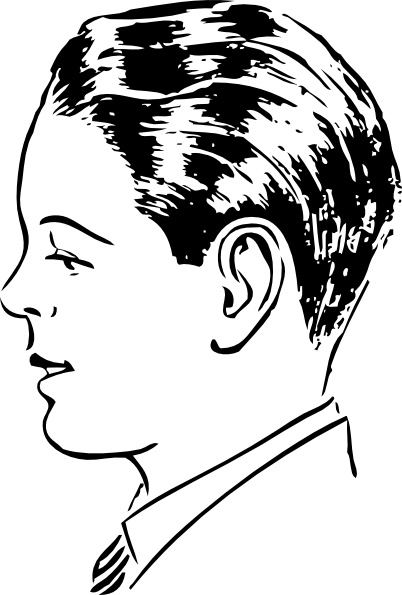 Man clip art free. Chin clipart boy side view
