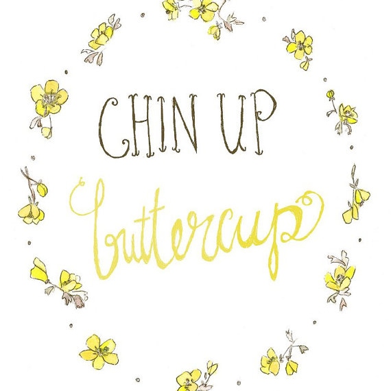 tracks radio buttercup. Chin clipart chin up