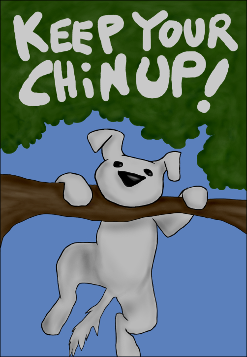 Chin clipart chin up. Keep your by mondora