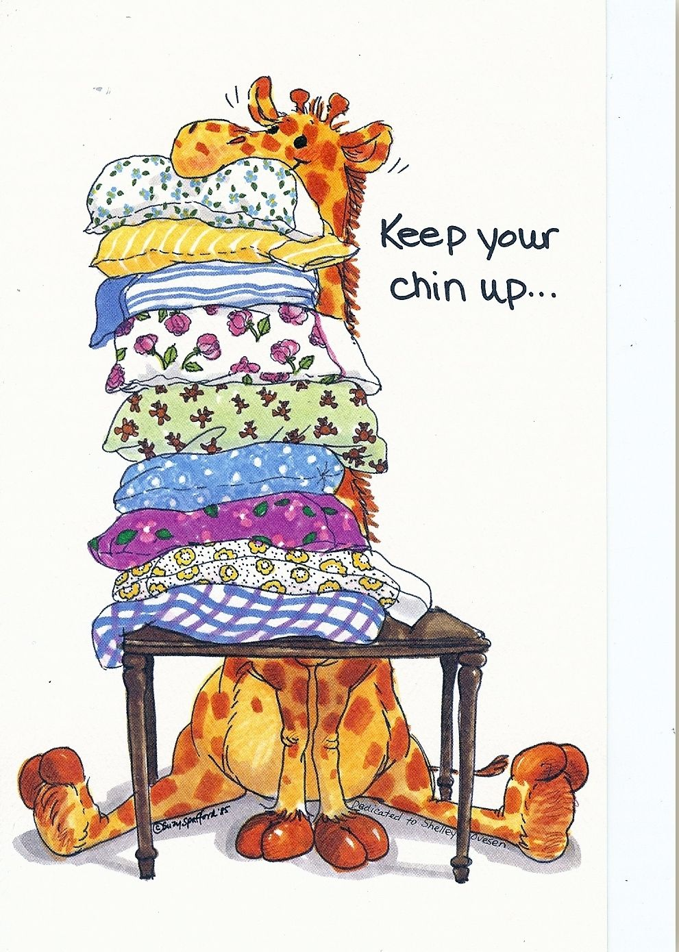 Giraffe keep your suzy. Chin clipart chin up