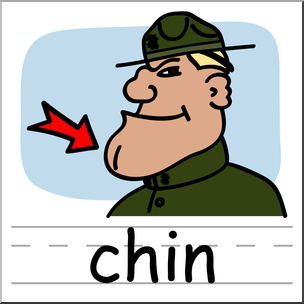 Chin clipart clip art. Basic words color labeled