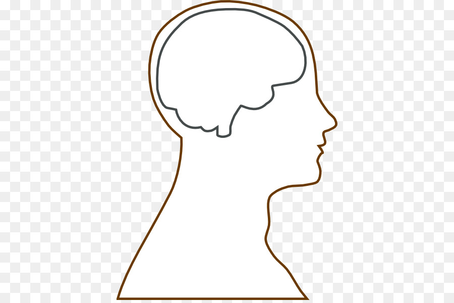 Outline of the brain. Chin clipart human neck