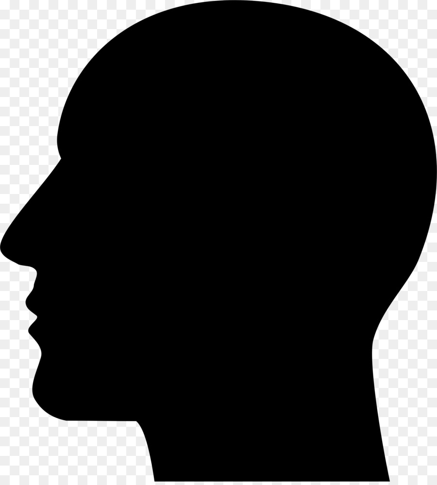 Head silhouette clip art. Chin clipart human neck