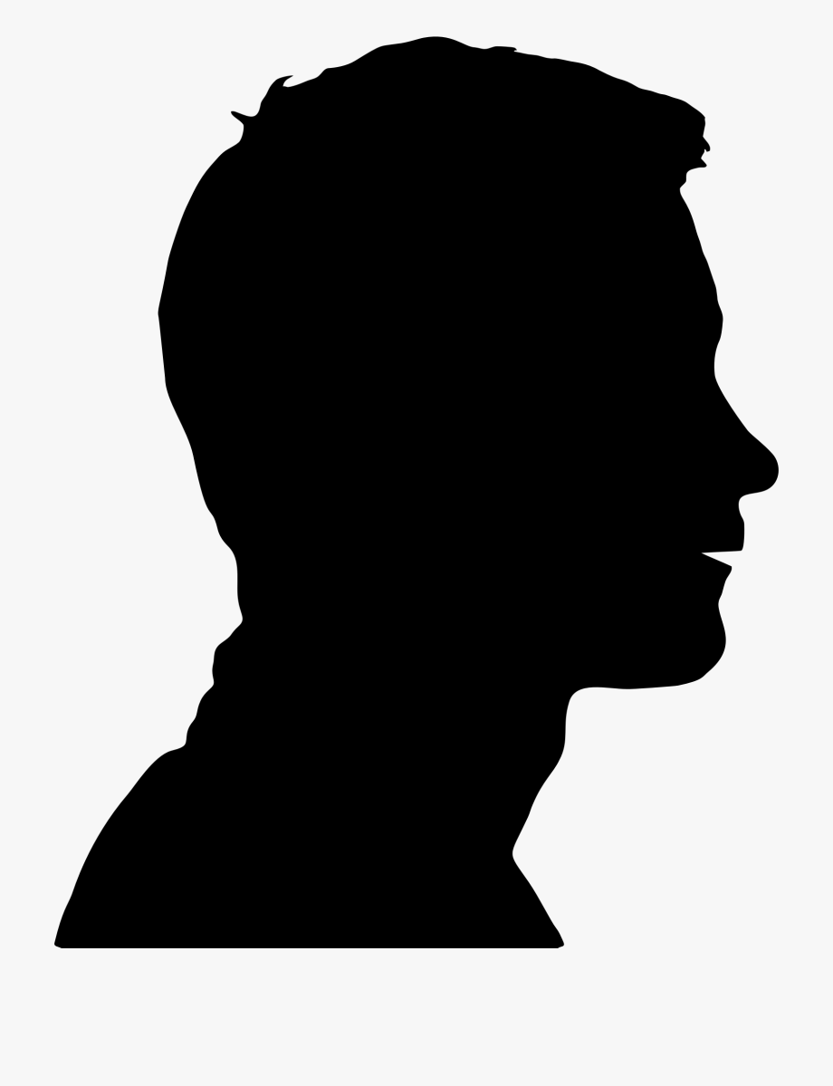 Male head silhouette png. Neck clipart human neck