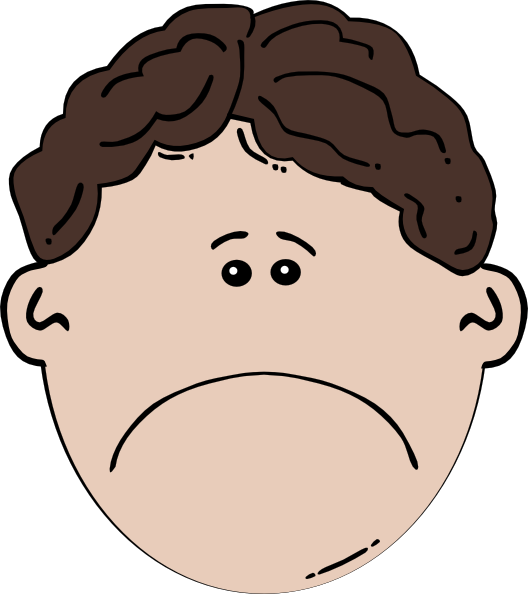 Boy face sad clip. Chin clipart kid