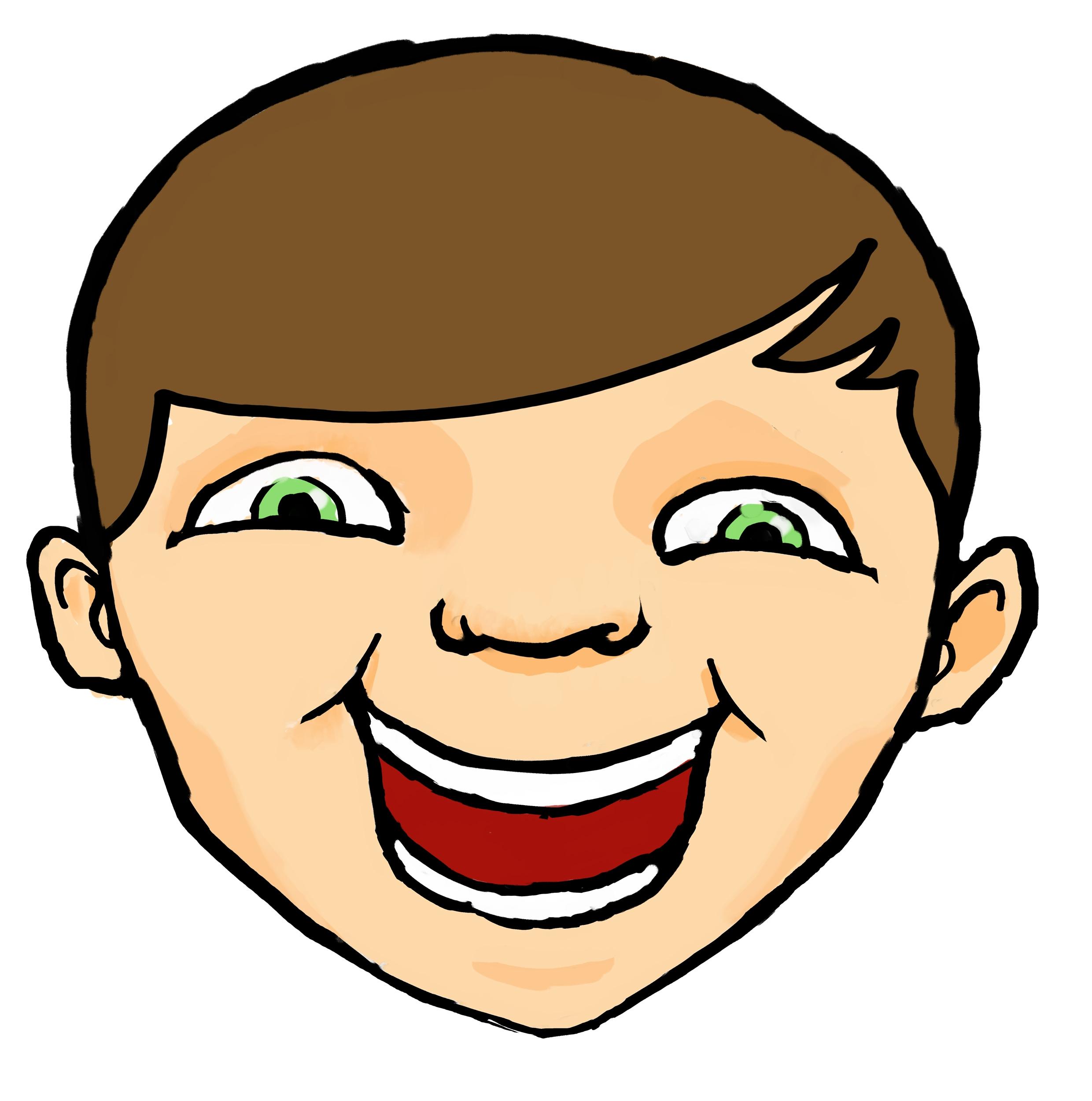 Chin clipart kid. Cartoon boy face free