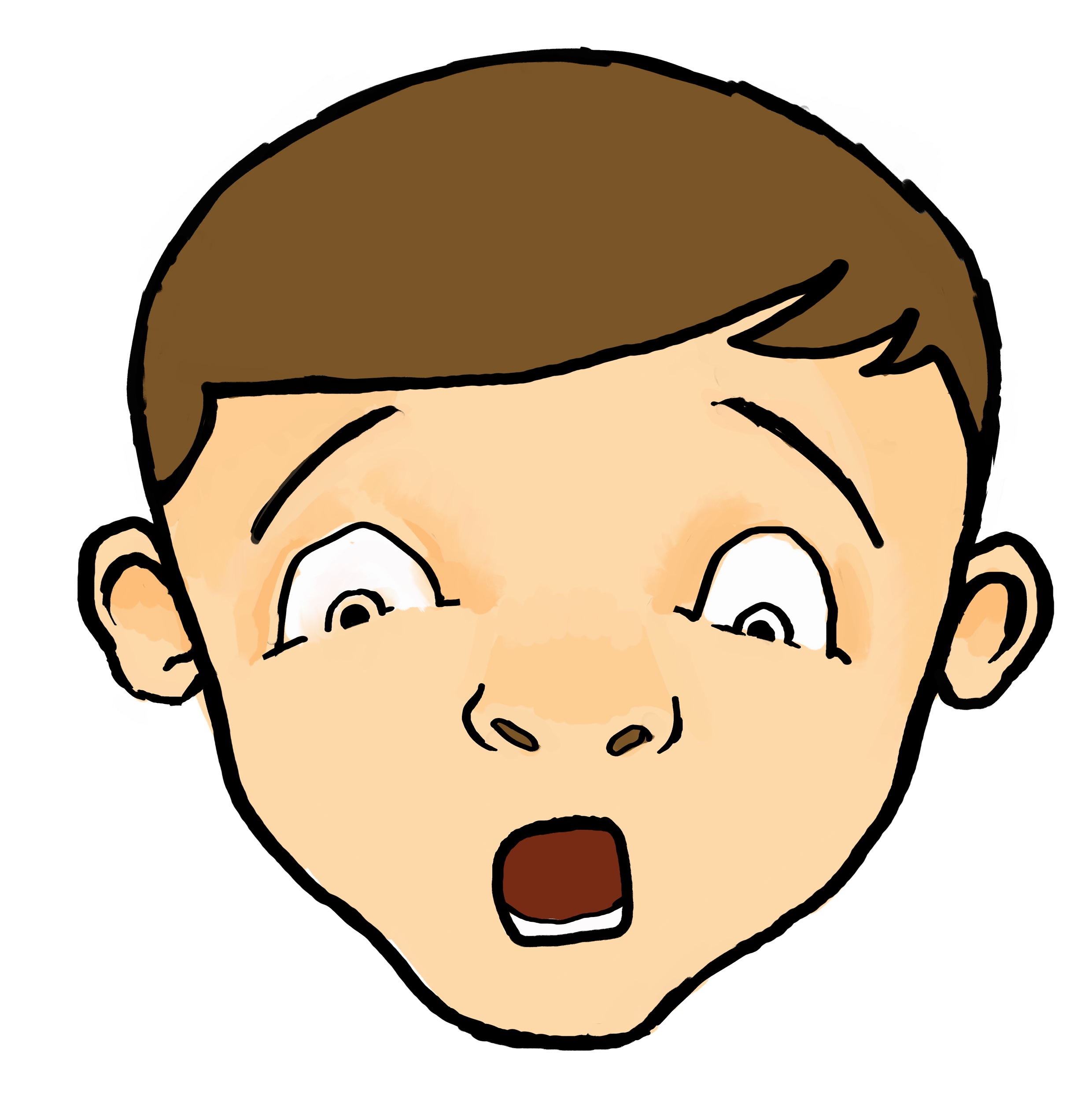 Happy face free images. Chin clipart kid