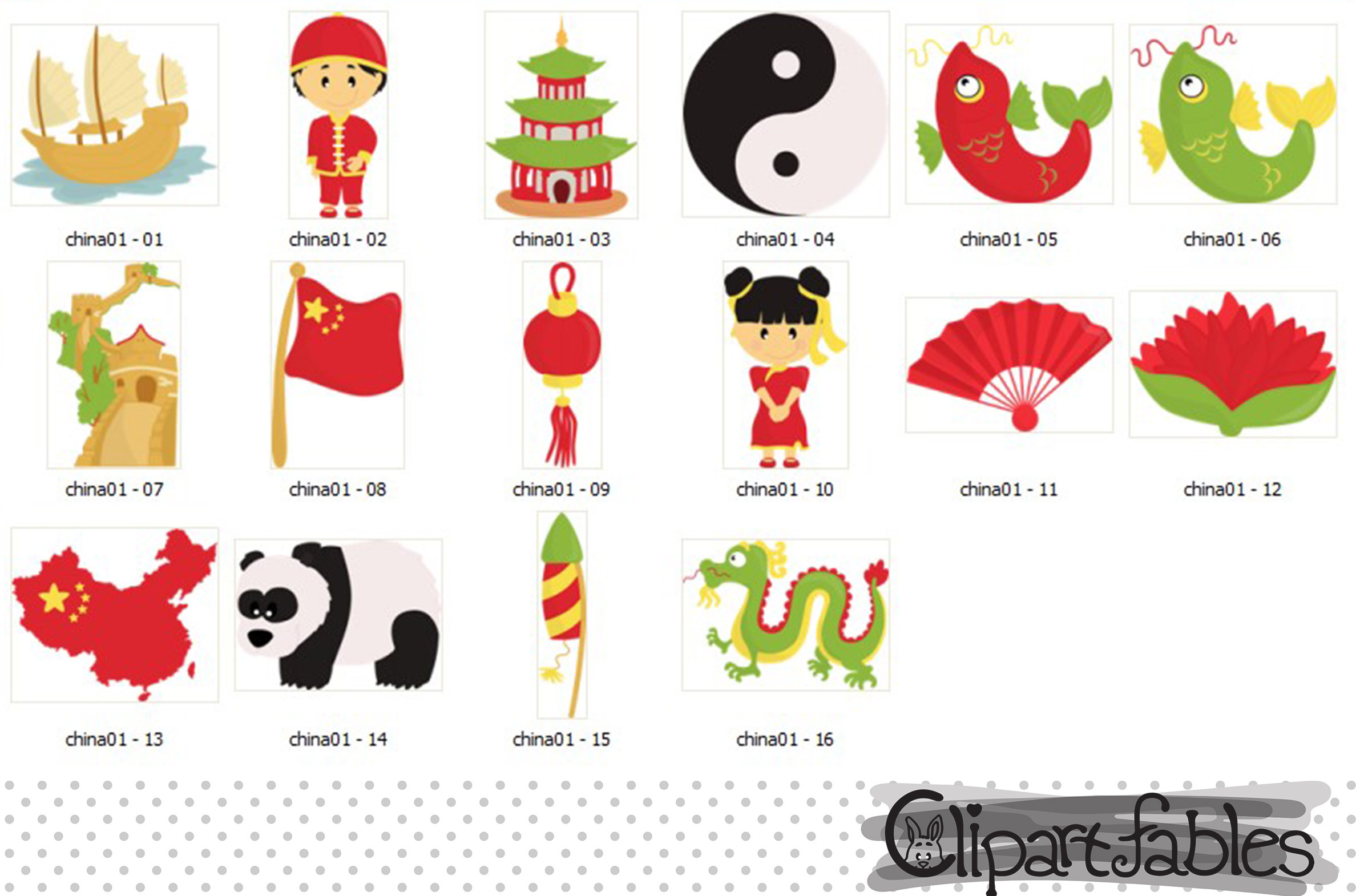 Cute chinese dragon art. China clipart background