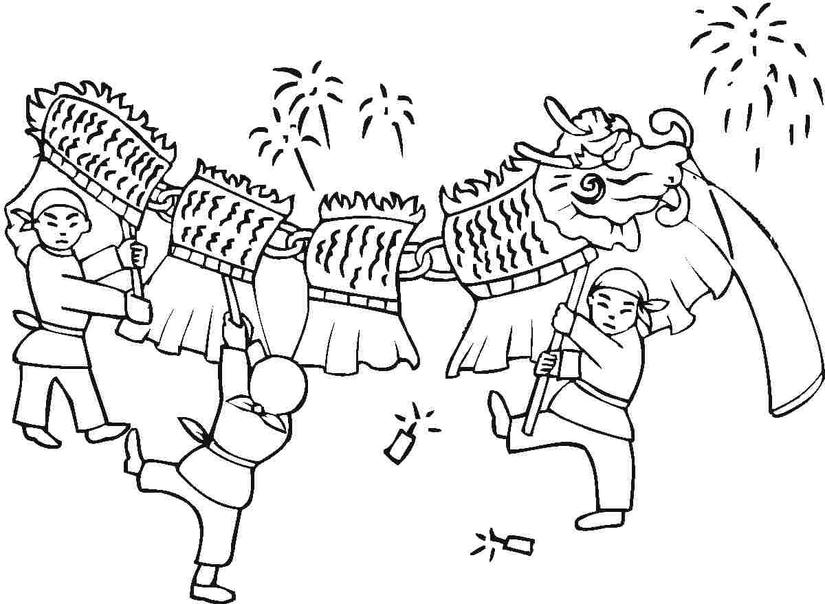China clipart black and white. Chinese new year station